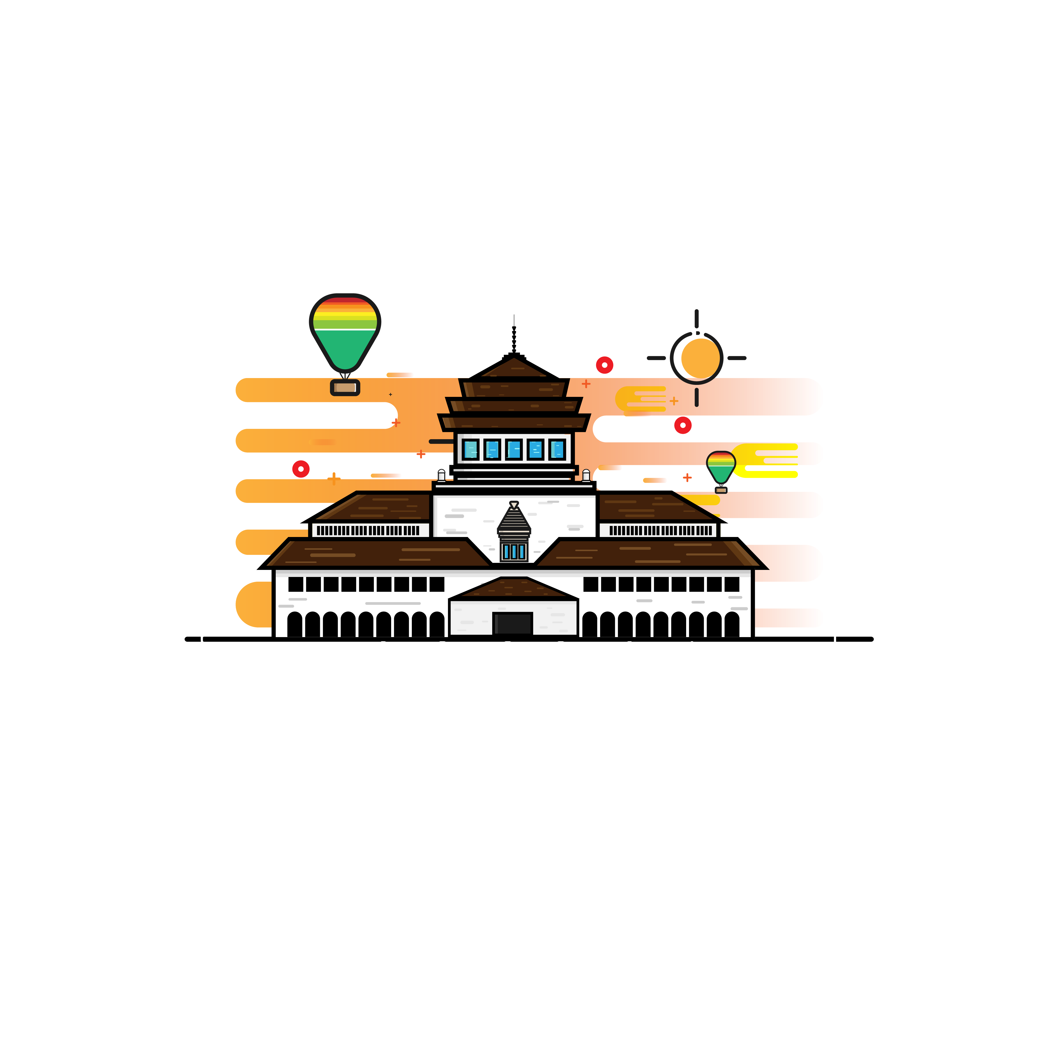 Bandung Vector Ilustrasi Gambar Monumen