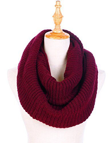 Knit Infinity Scarf For Women Thick Winter Warm Chunky Circle Loop