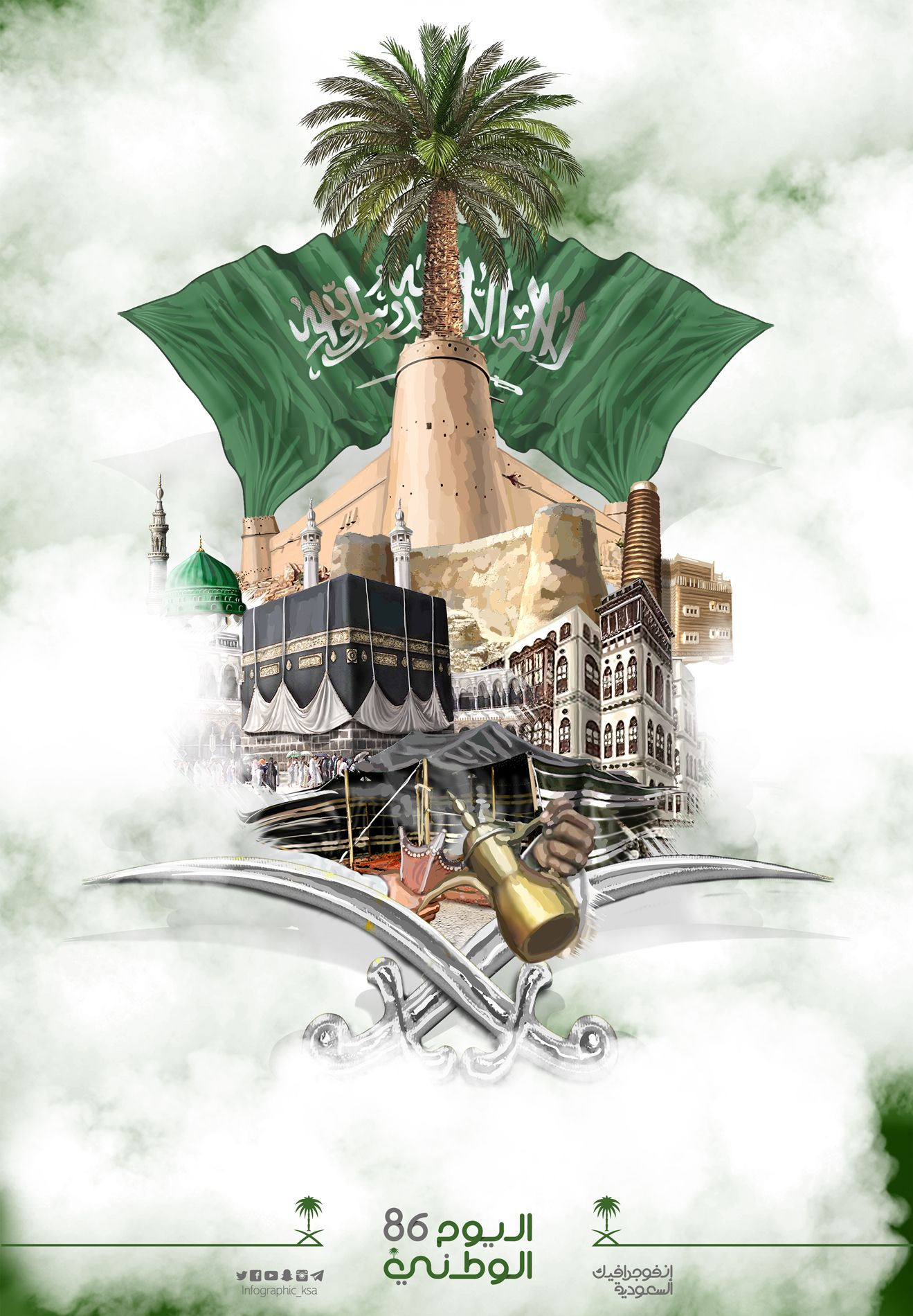 86th Saudi National Day National Day Saudi Saudi Flag Art