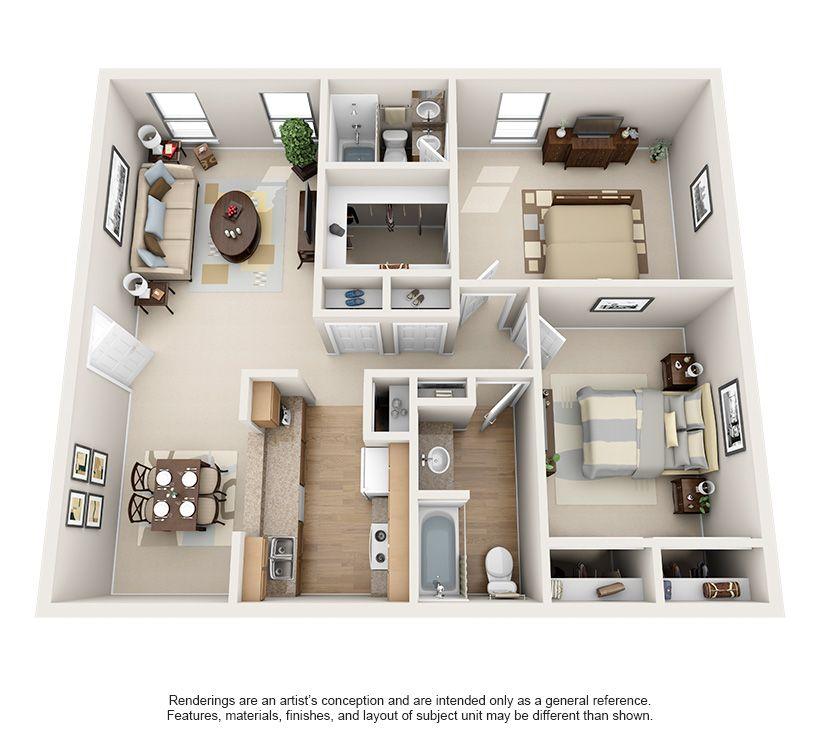 Luxury 1 2 Bedroom Apartments In Bellaire Floor Plans Houston Texas Apartment 2 Bedroom Apartment Floor Plan Two Bedroom Apartments Apartment Layout