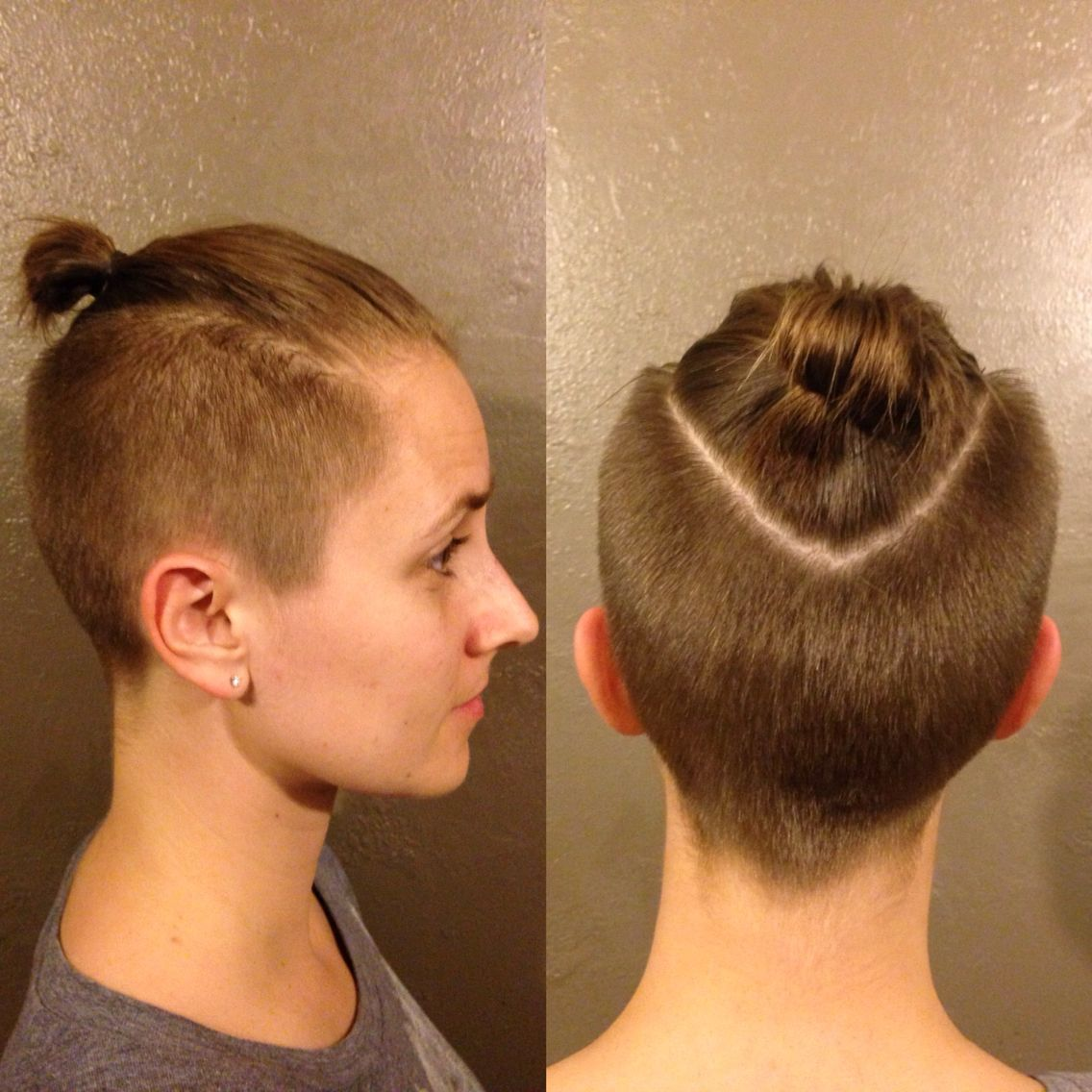 Top Knot / ponytail undercut | Hairstyles | Hair styles ...