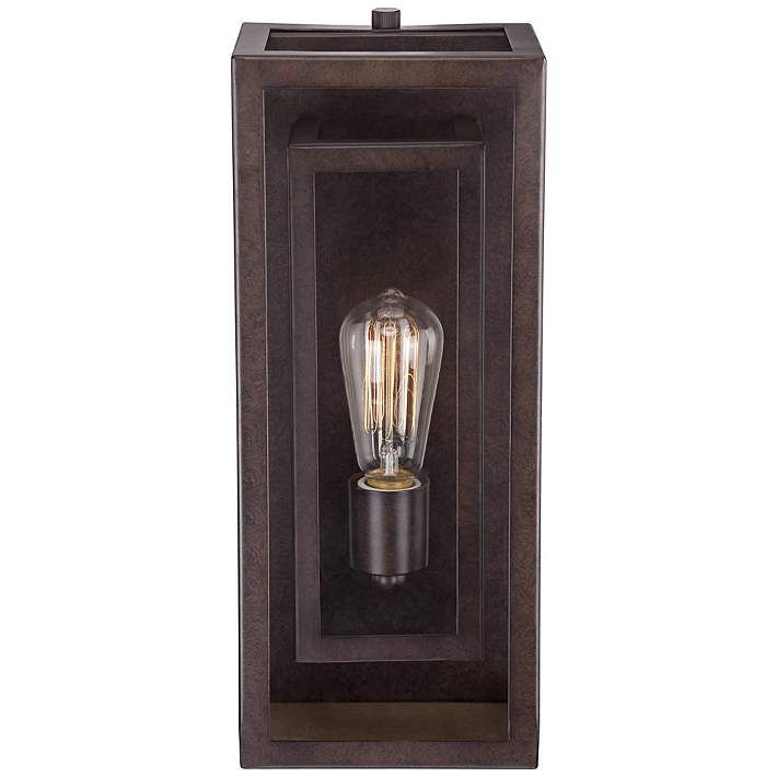 """Double Box 15 1/2"""" High Clear Glass and Bronze Wall Light ..."""