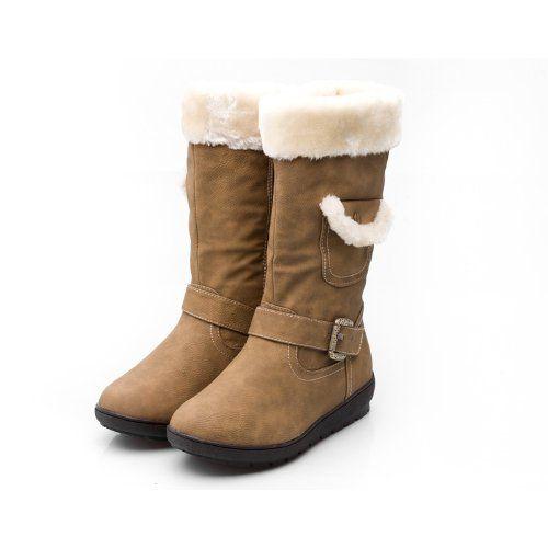W-COCO-3-KHA Women Mid-Calf Boot- Khaki