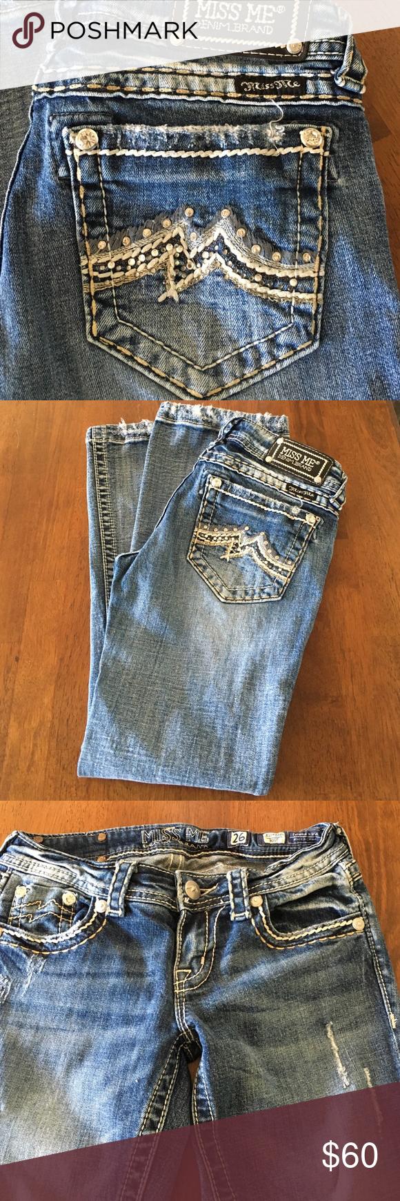 Distressed Miss Me Jeans Distressed Miss Me Jeans 26 w x 29 l. Make an offer 😊 Miss Me Jeans Boot Cut