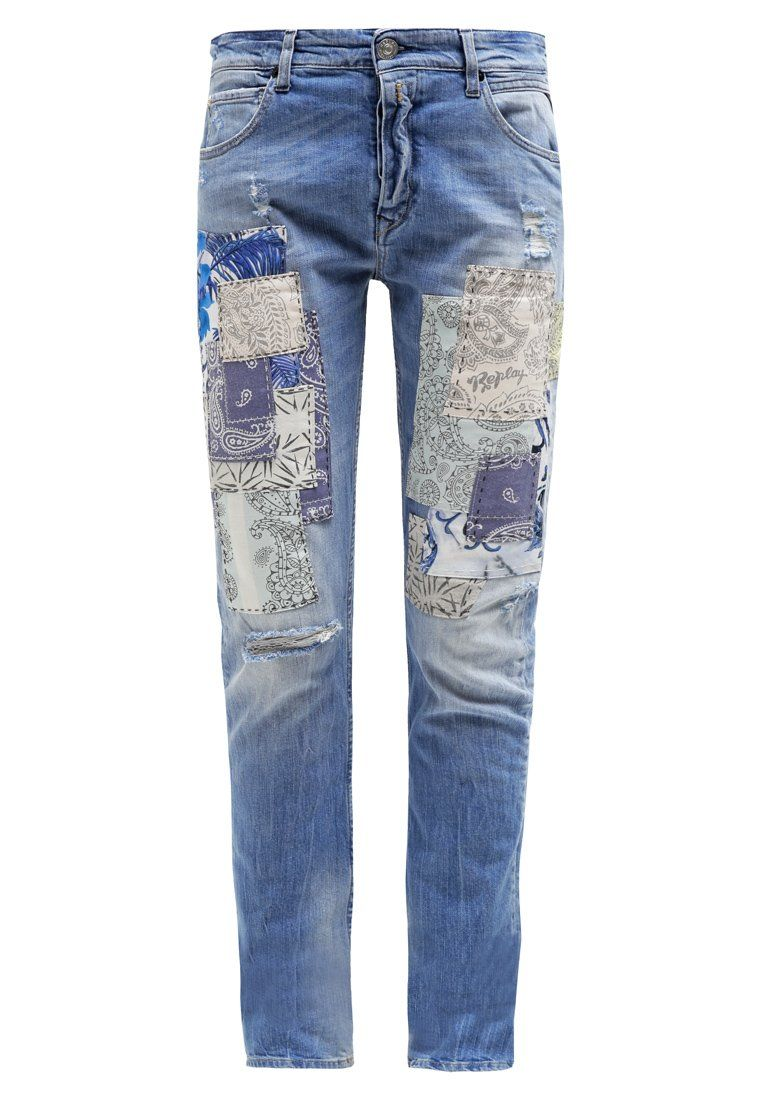 Replay GRACELLY Jeans Relaxed Fit lightblue denim
