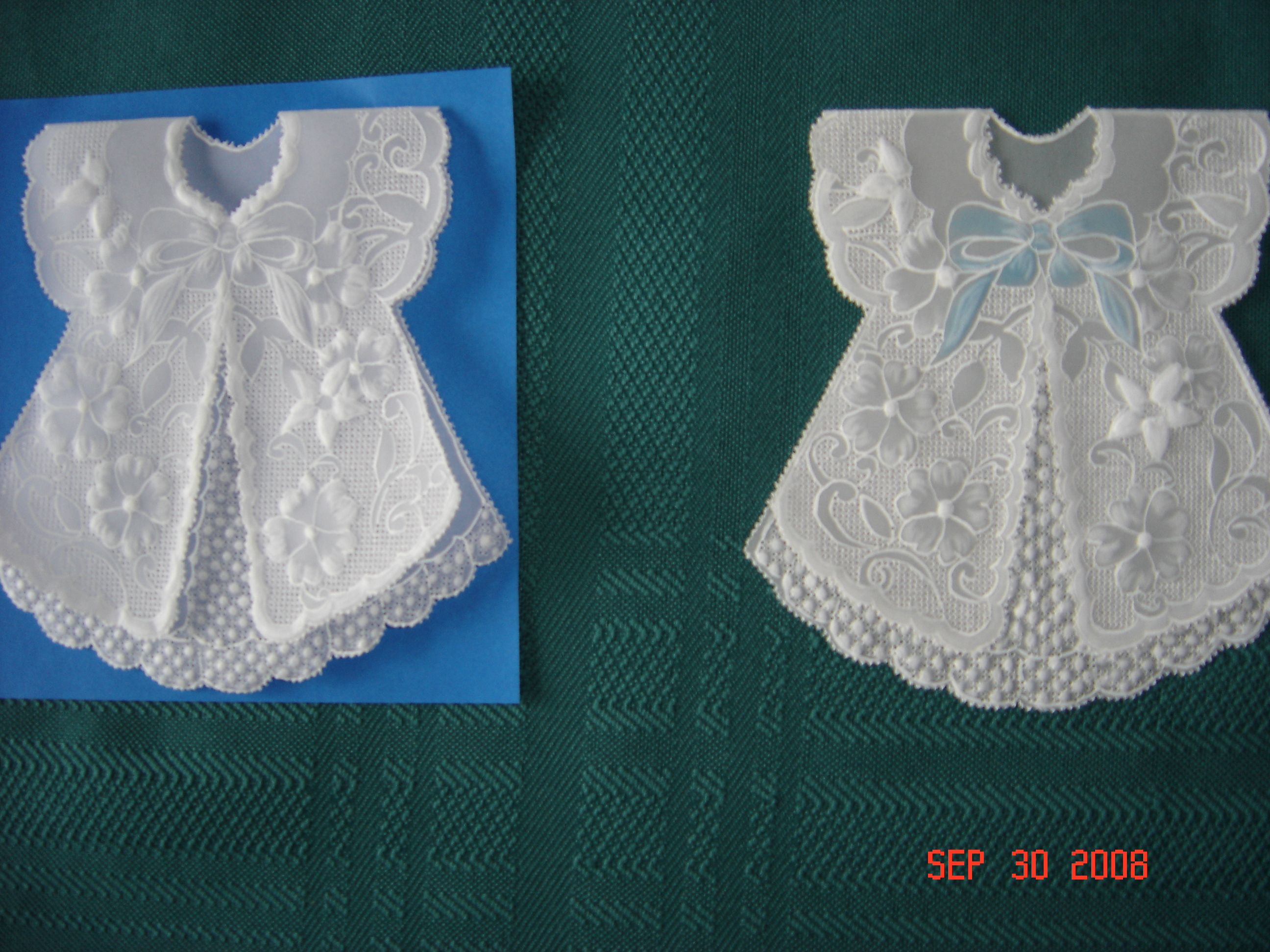 Pergamano Baby Shower Card Boy Or Girl Parchment Craft