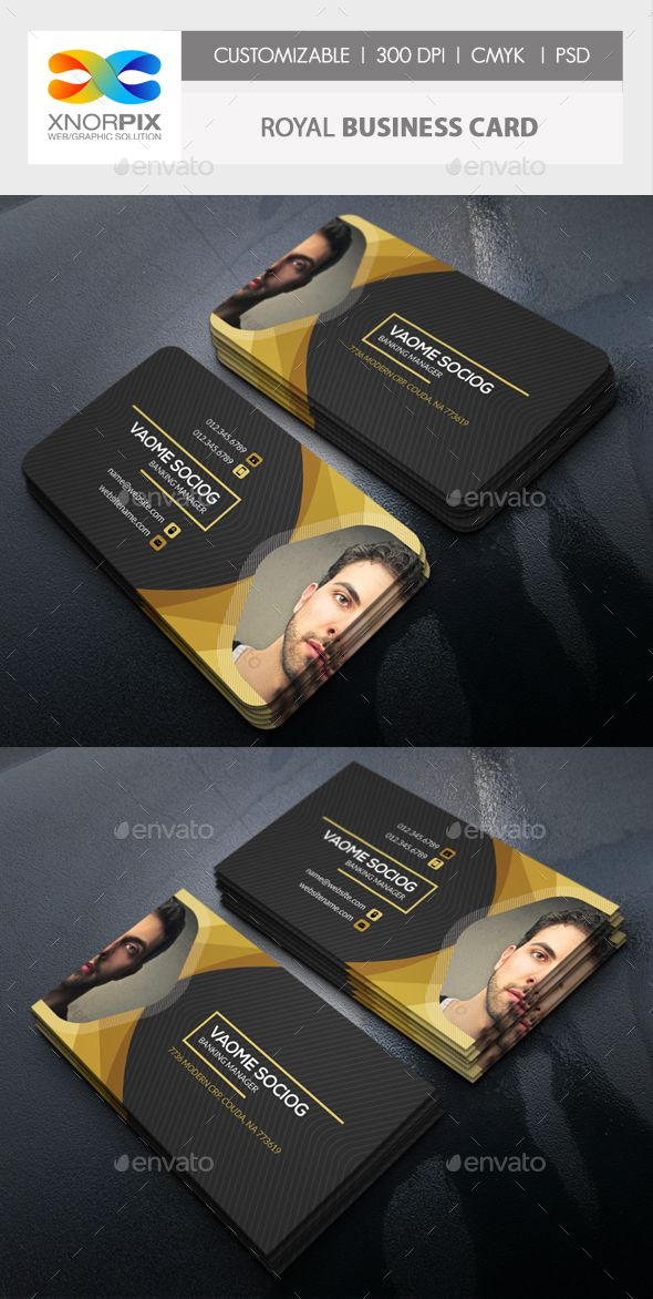 Royal Business Card Template PSD