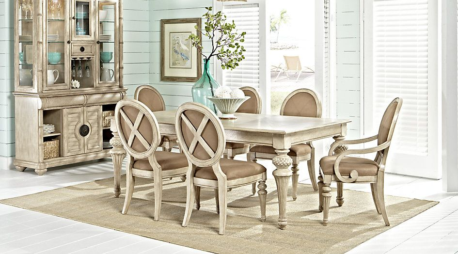 Cindy Crawford Home Key West Sand 5 Pc Rectangle Dining Room With Pleasing Oval Dining Room Table Sets Inspiration