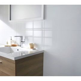Carrelage mural Blanc brillant 30 x 60,5 cm | bains | Pinterest ...