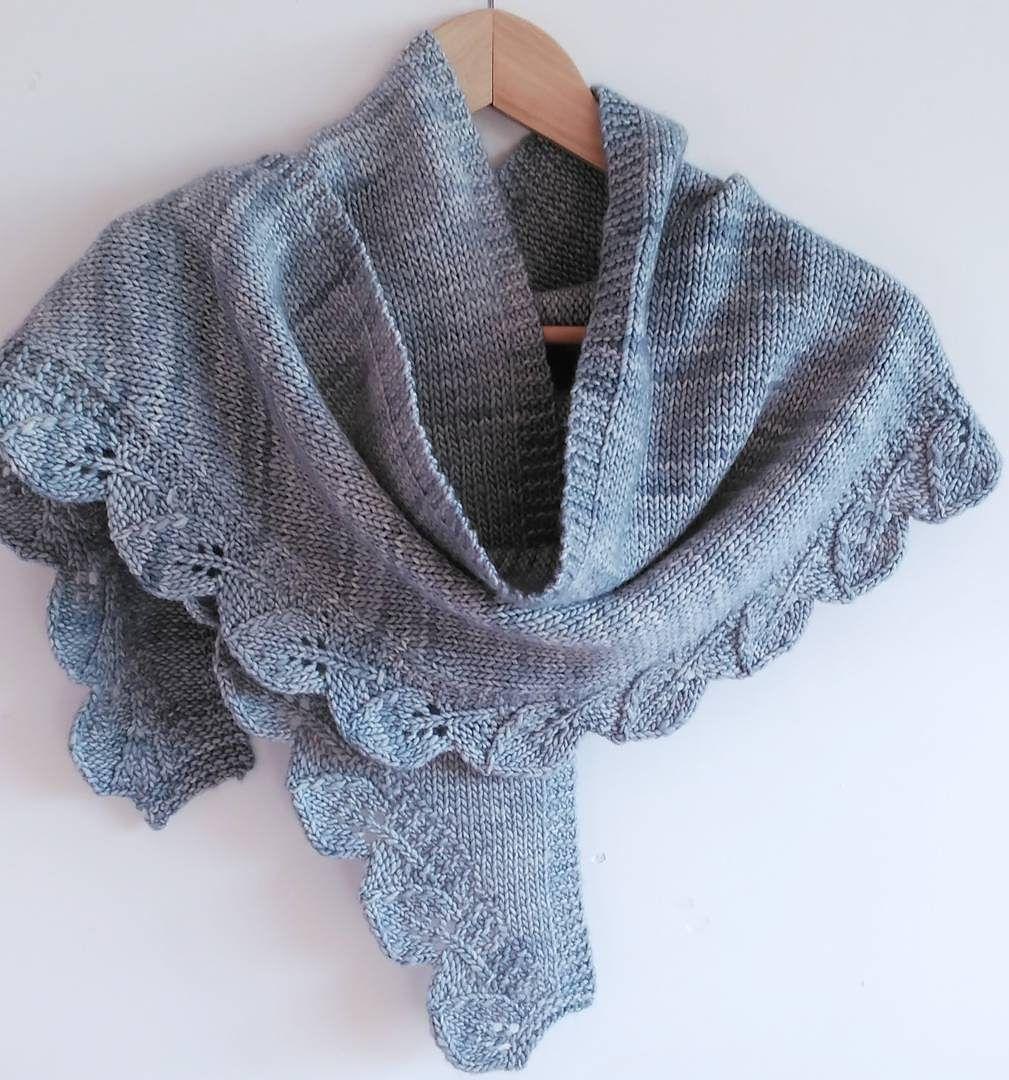 Shaped Shawl and Scarf Knitting Patterns | Stockinette, Knitting ...