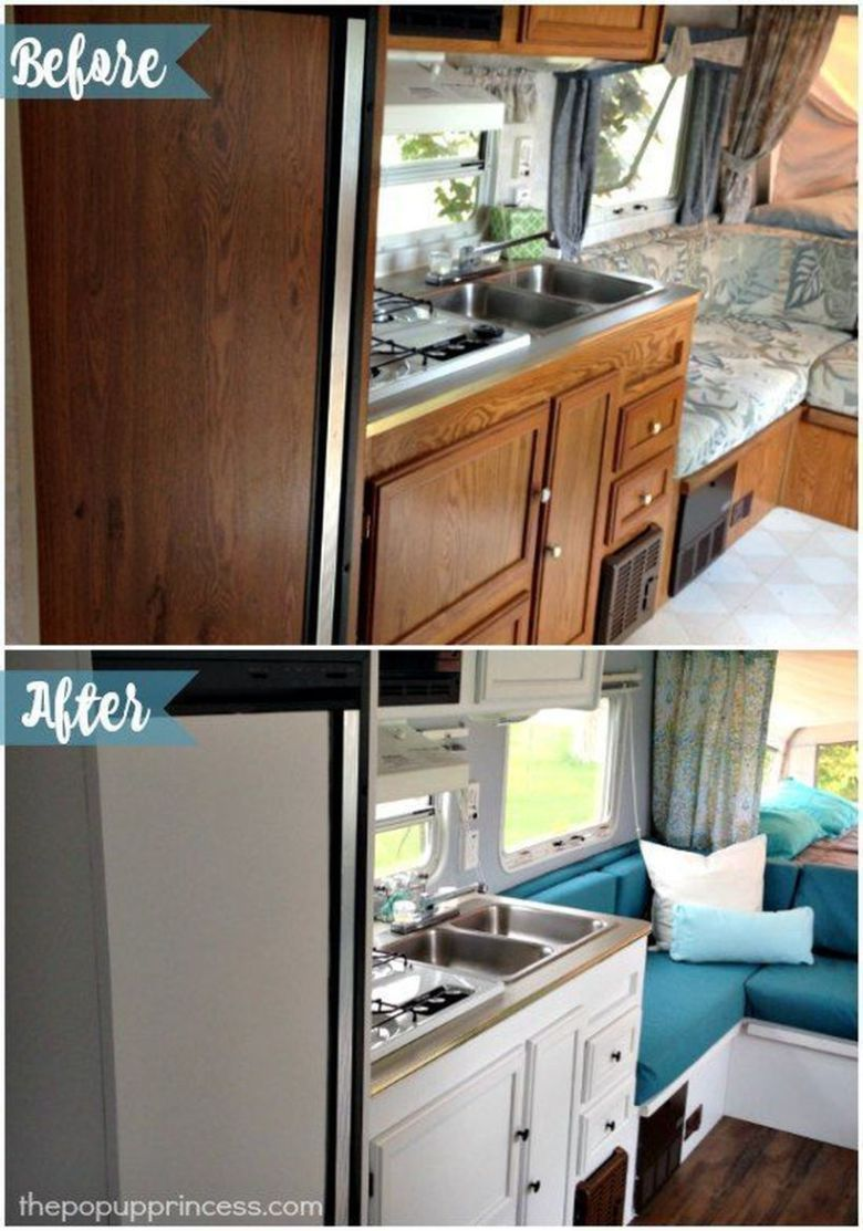Before And After Rv Camper Interior Remodeling 9