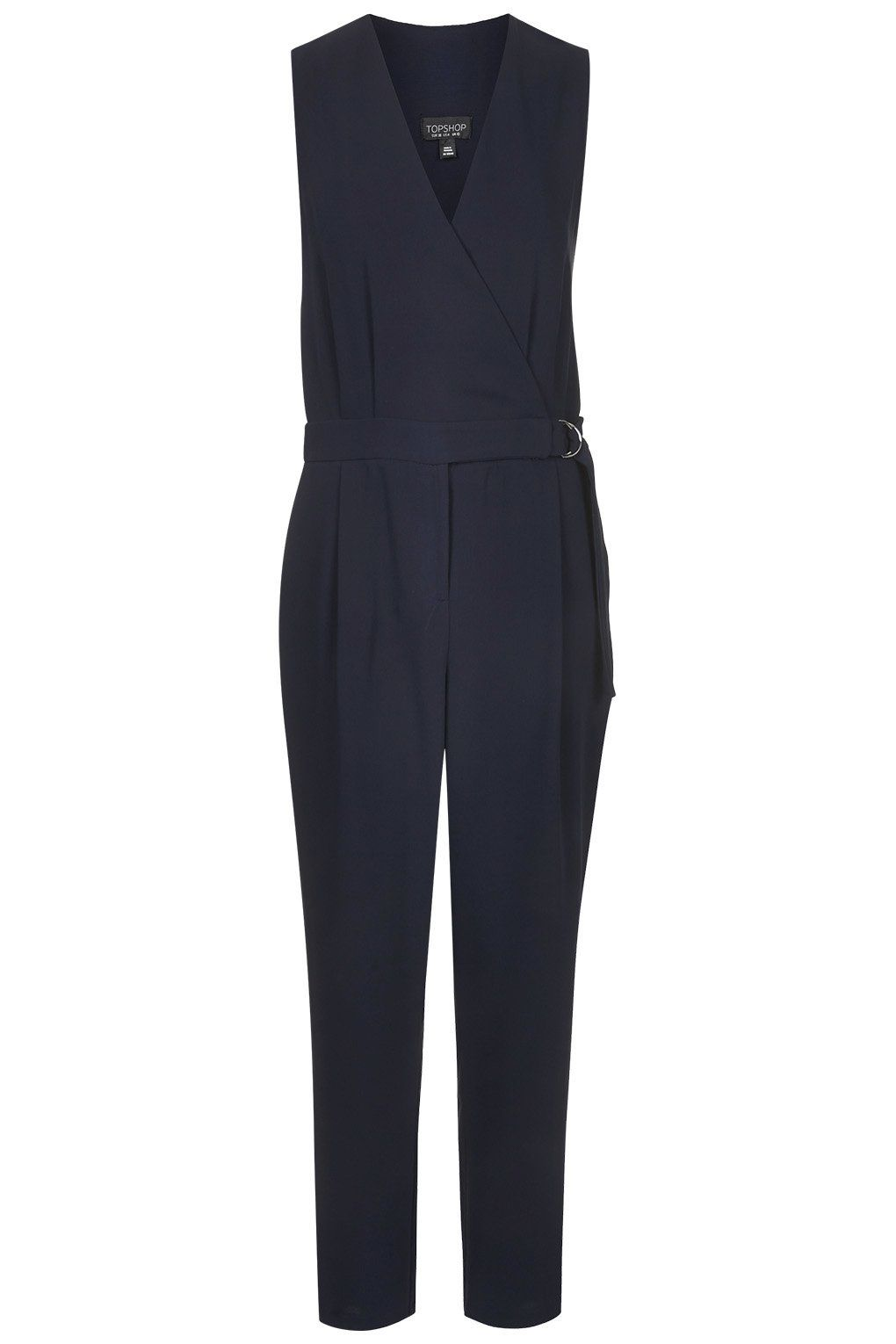 7125b3b6e498 Sleeveless D-Ring Jumpsuit - Topshop