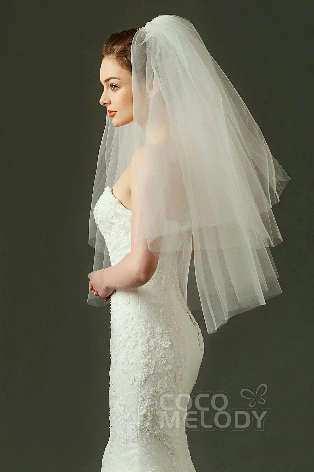 Two Tier Mid Length Bouffant Wedding Veil