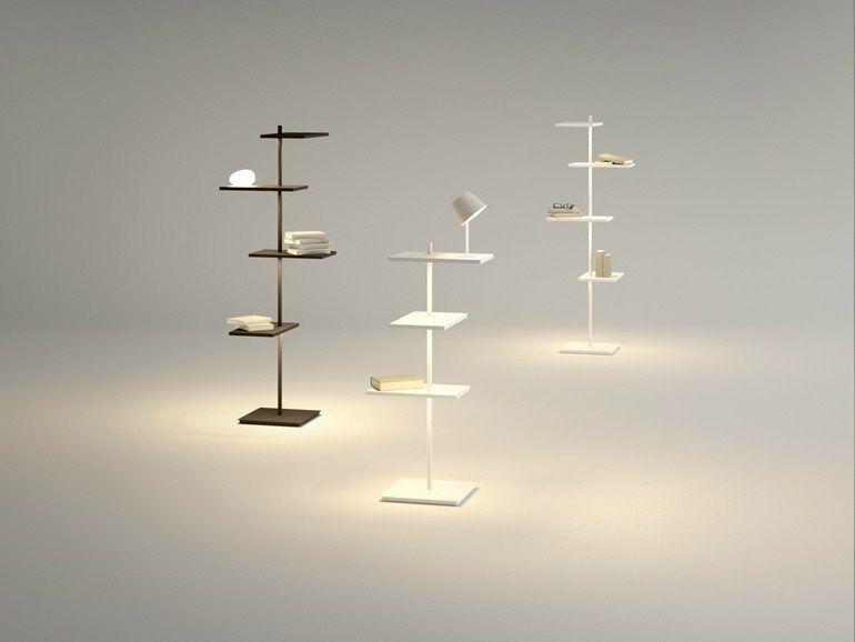 Lampada da terra a led suite collezione suite by vibia design