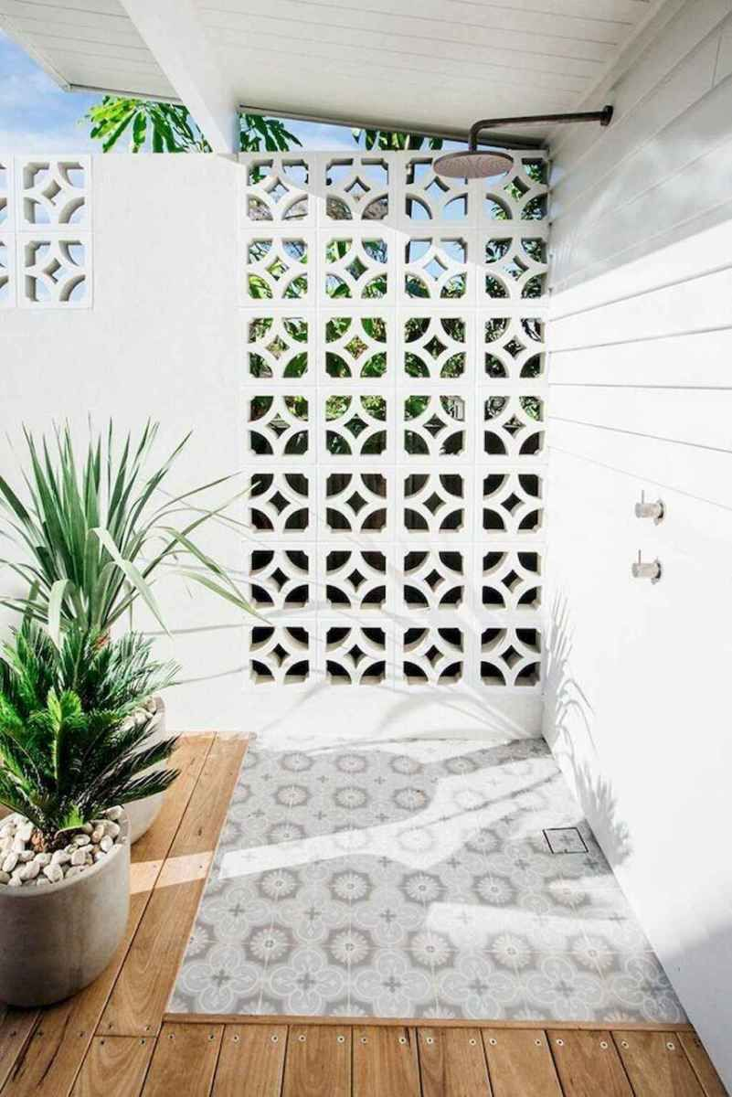 Inspiring Outdoor Living Space Design Ideas 15 Outdoor Living Space Design Breeze Block Wall Outdoor Bathrooms