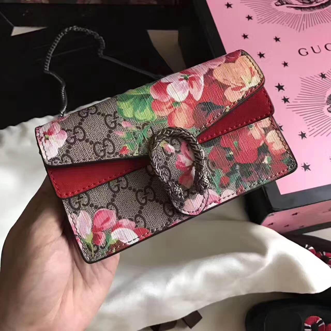 c553f7024ff Gucci Dionysus GG Blooms Super Mini Bag