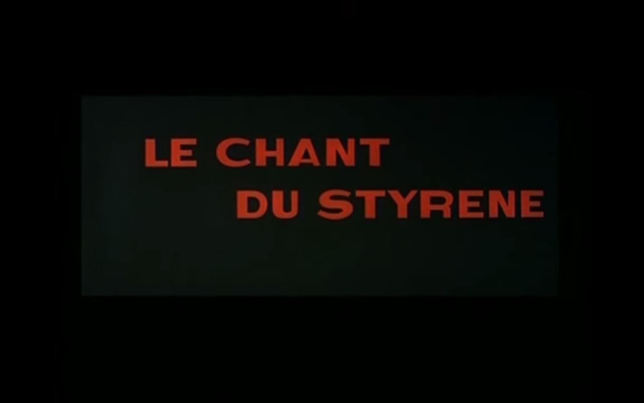 le chant du styrène, Alain Resnais (1958)