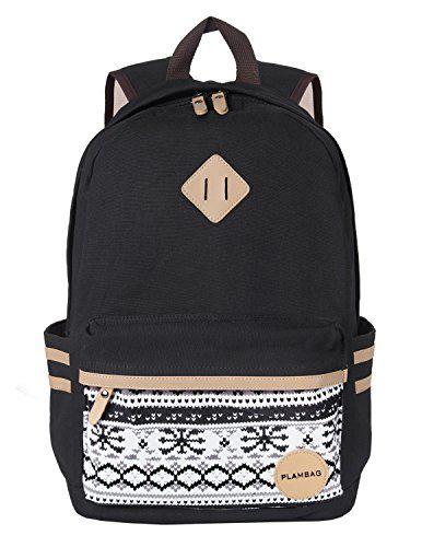 29 99 Save 26 Amazon Lightning Deal 53 Claimed Plambag Causal Lightweight Canvas Cute Backpack 14 Laptop H Mochilas Hermosas Mochilas Para La Escuela
