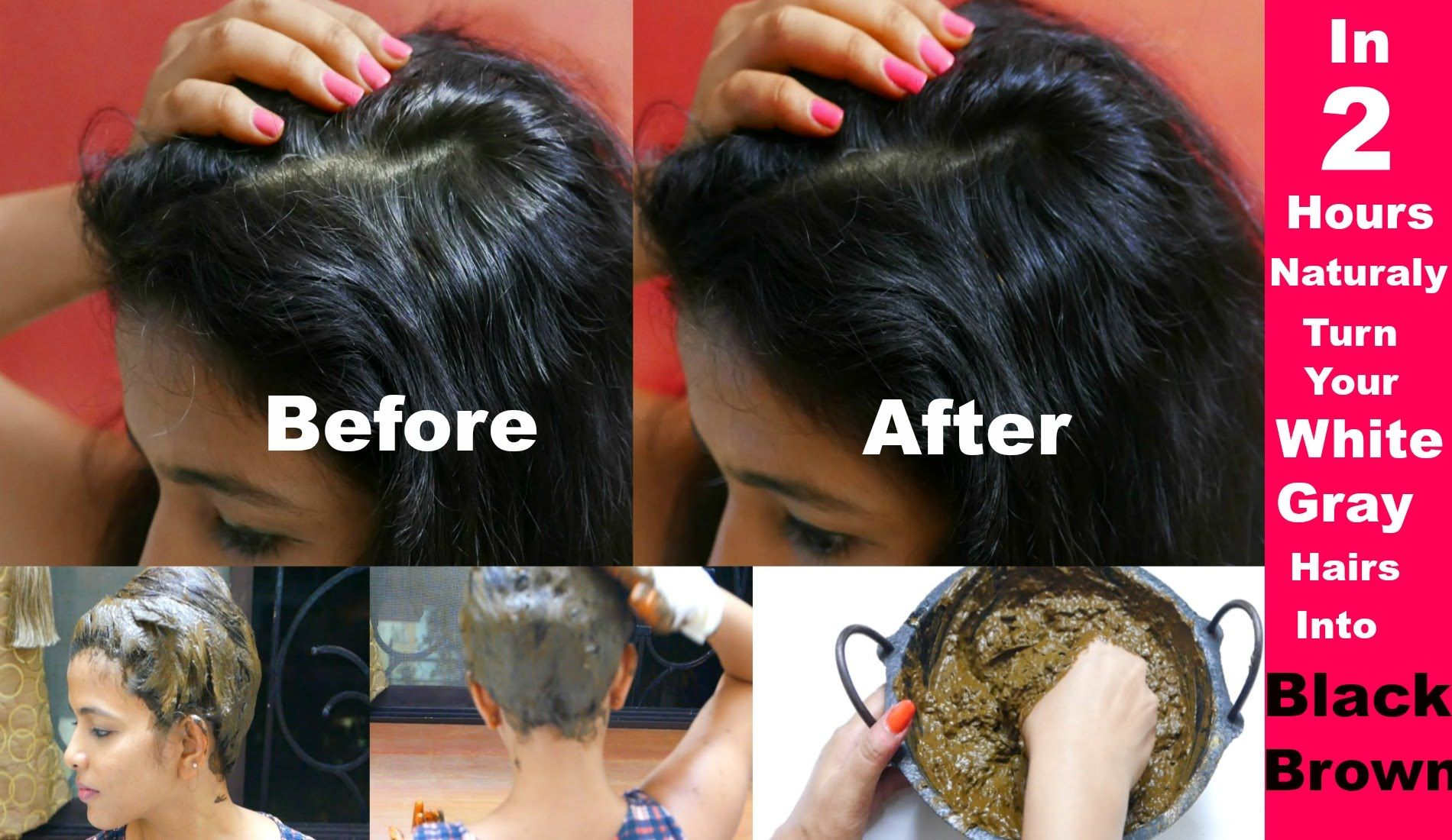 aff55c4e42b6f Turn Grey/White Hairs To Brown Naturally: How To Apply Henna/Mehendi On ..