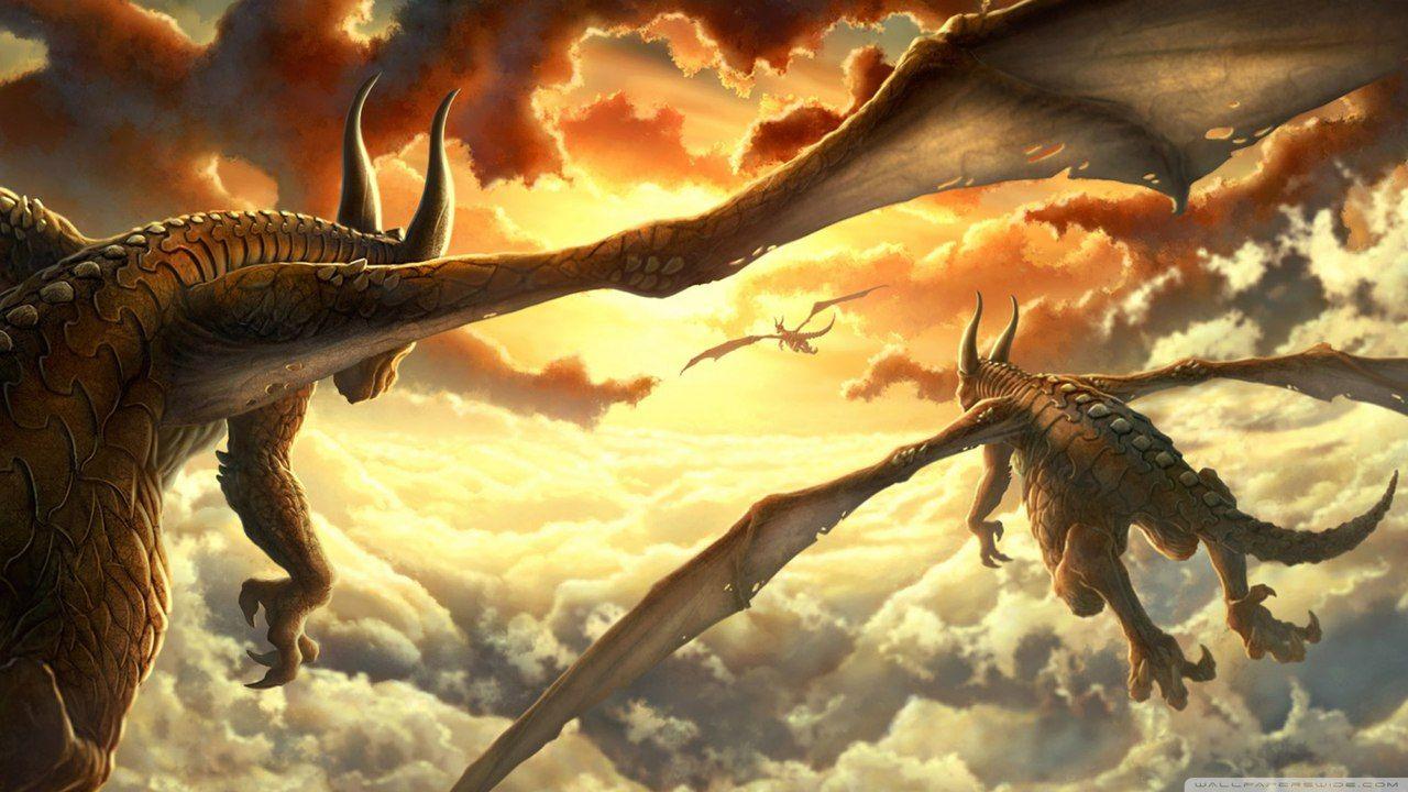 Жду, интересные картинки с драконами