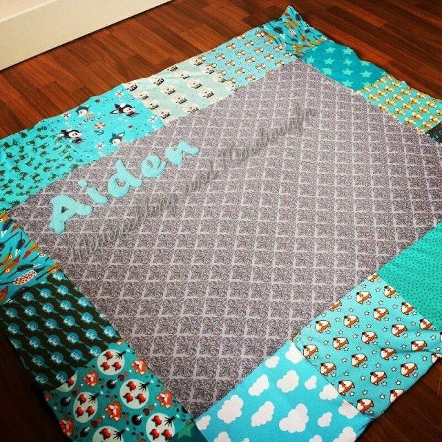 Krabbeldecke Nähen für Babys Idee Handmade, Handarbeit, sew, sewing, Kinder, Baby, Geschenk