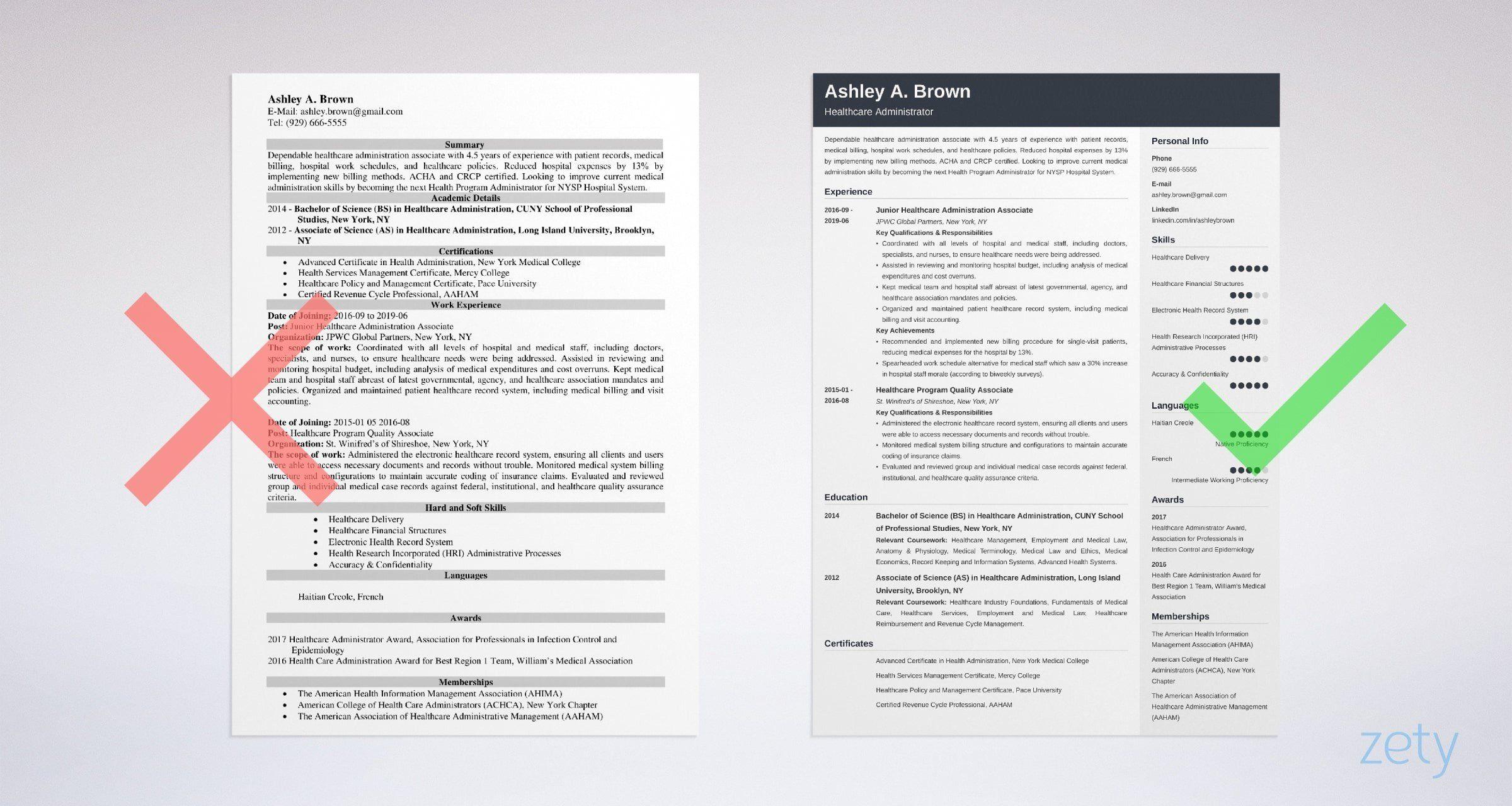 Healthcare professional resume samples writing tips job