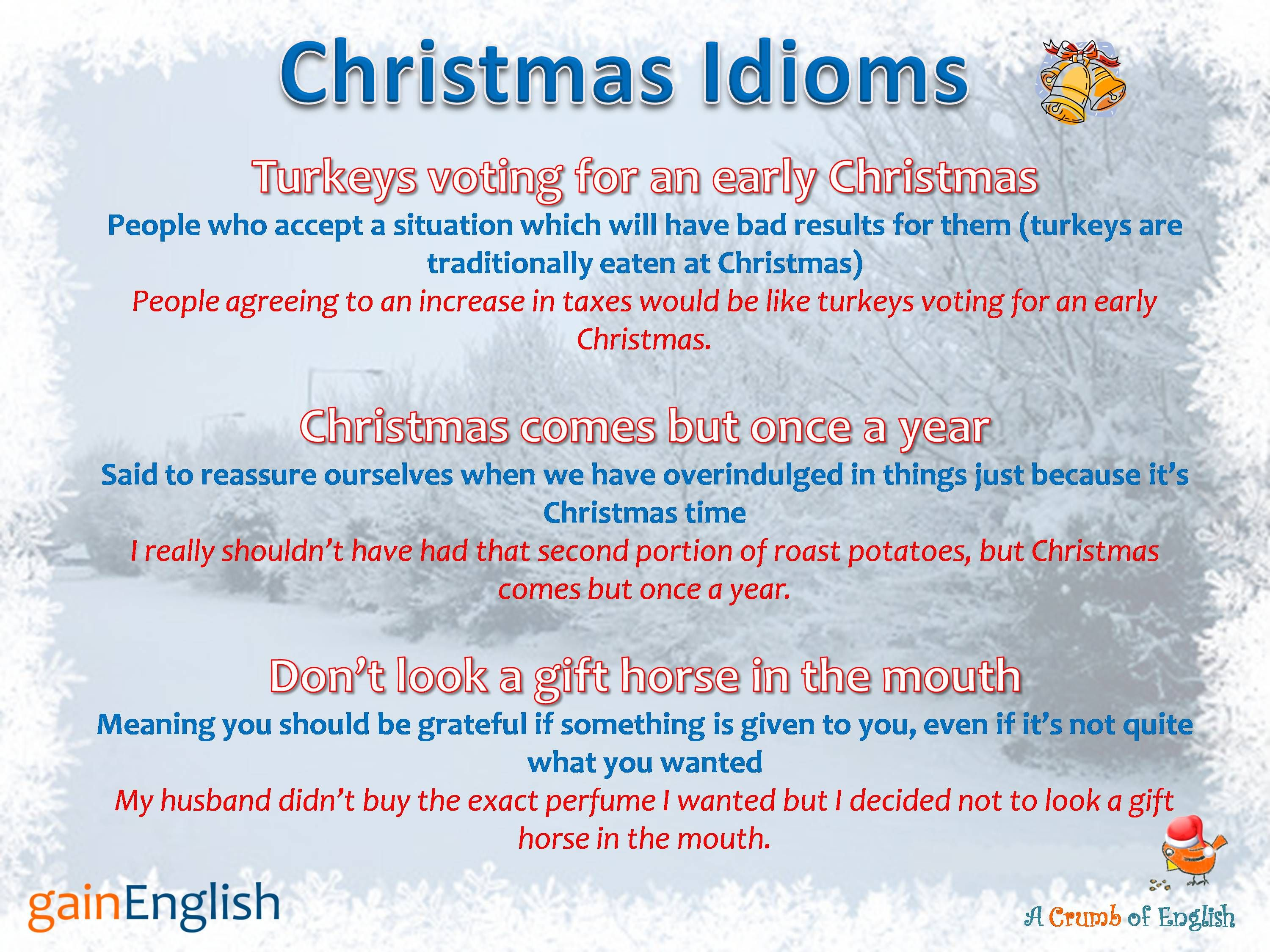 Image Result For Christmas Idioms With Images To Share