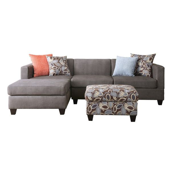 "Iris 97"" Reversible Chaise Sectional Apartment"