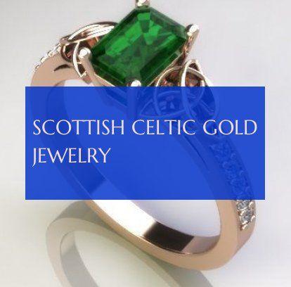 scottish celtic gold jewelry