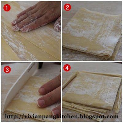 Vivian Pang Kitchen: Homemade Wonton Wrapper (with egg)/云吞皮