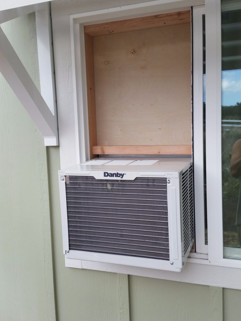 Mounting A Standard Air Conditioner In A Sliding Window From The