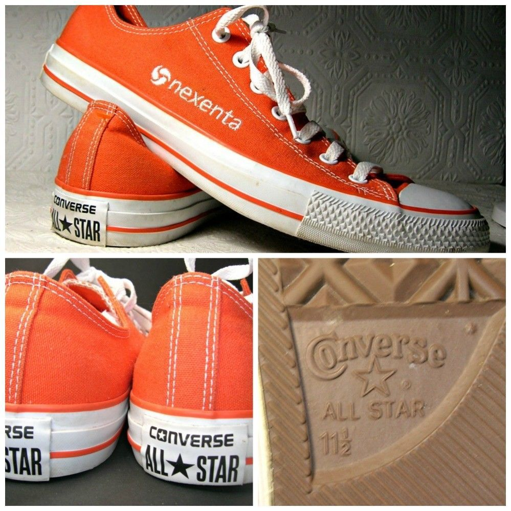 020047eab164 Converse All Stars Sz 11.5 Customized Nexenta Low Top Sneakers  Converse   AthleticSneakers