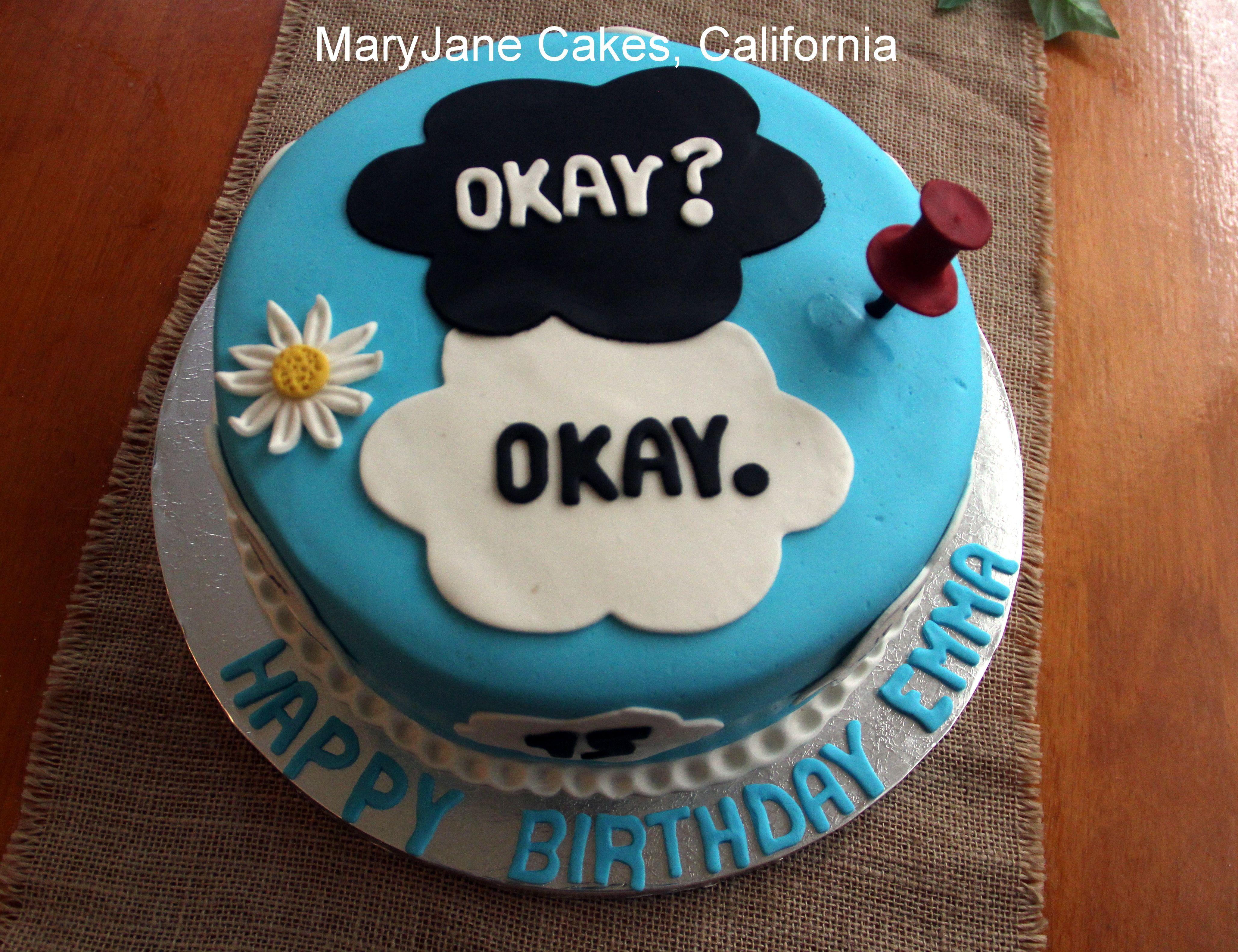 Looking For Alaska Theme: John Green Birthday Cake By MaryJane Cakes , California