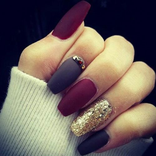Matte Nails – 67 Best Matte Nails | Matte nails, Coffin nails and ...