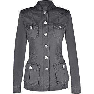 Ladies Military Style Summer Cotton Jacket