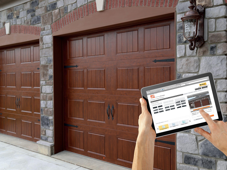 Residential Garage Doors Openers Accessories Doors Windows The Home Depot Garage Door Opener Installation Garage Door Installation Garage Door Springs