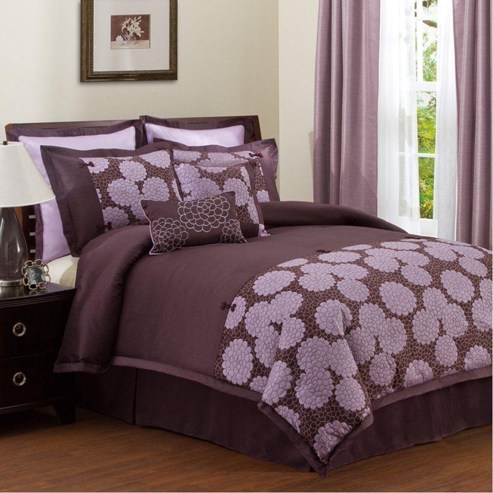 lush decor sanda 8piece comforter set  purple bedroom