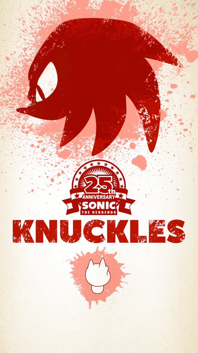 (3) Twitter Sonic 25th anniversary, Sonic, Sonic & knuckles