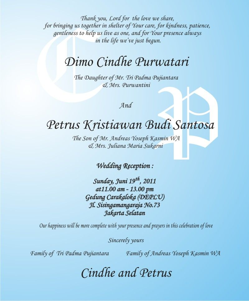 Wedding Invitations Parents Iviting
