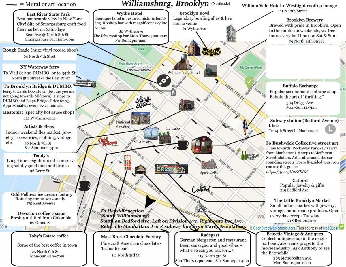 Williamsburg Neighborhood Map Northside Historia