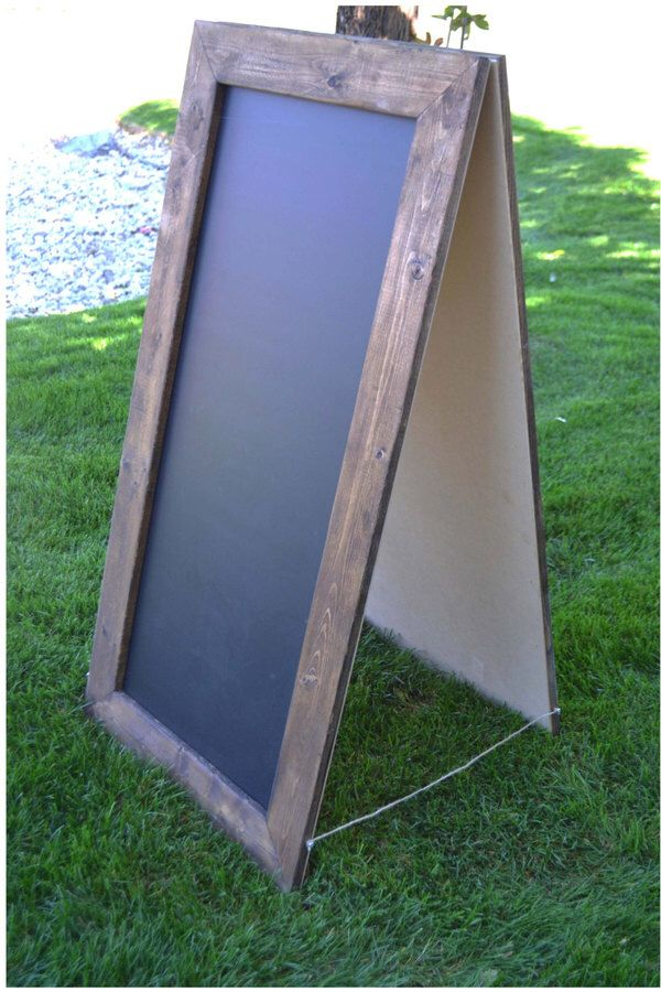 Rustic A-Frame Chalkboard 24\