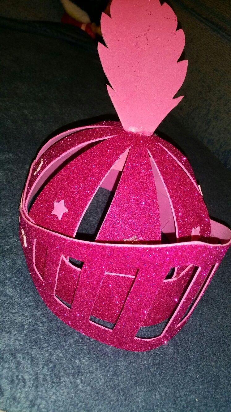 Casco de caballero medieval para niña | Mis creaciones con gomaeva ...