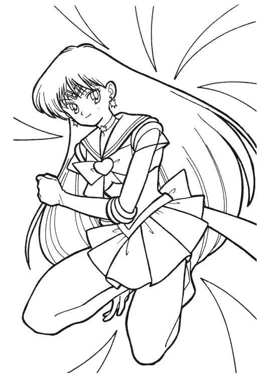 Sailor Moon Series Coloring Pages: Sailor Mars | sailor moon ...