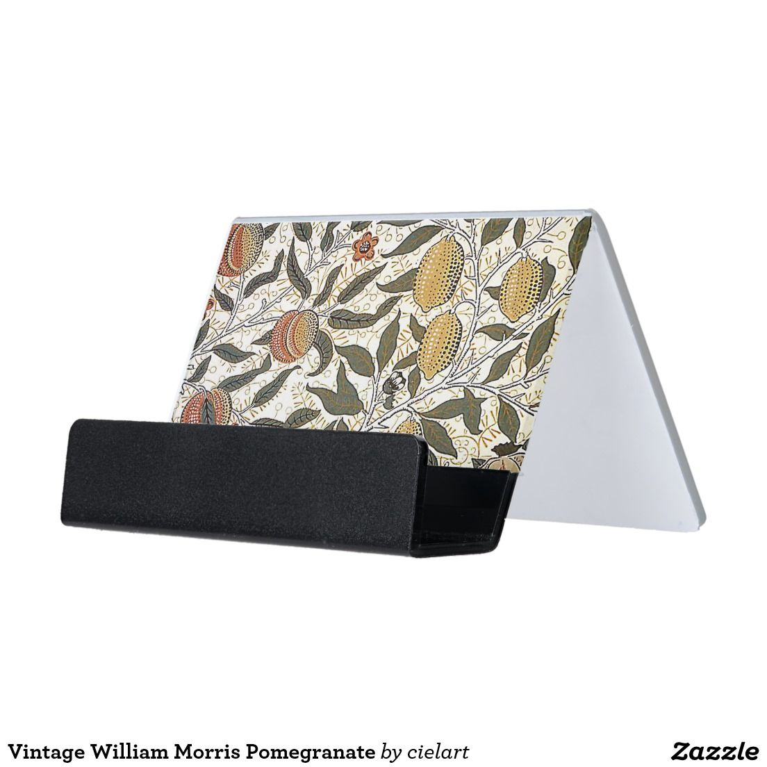 vintage william morris pomegranate desk business card holder