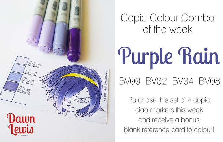 Bv08 Blue Violet Marker Markers Pen Colours Copic Ciao Marker