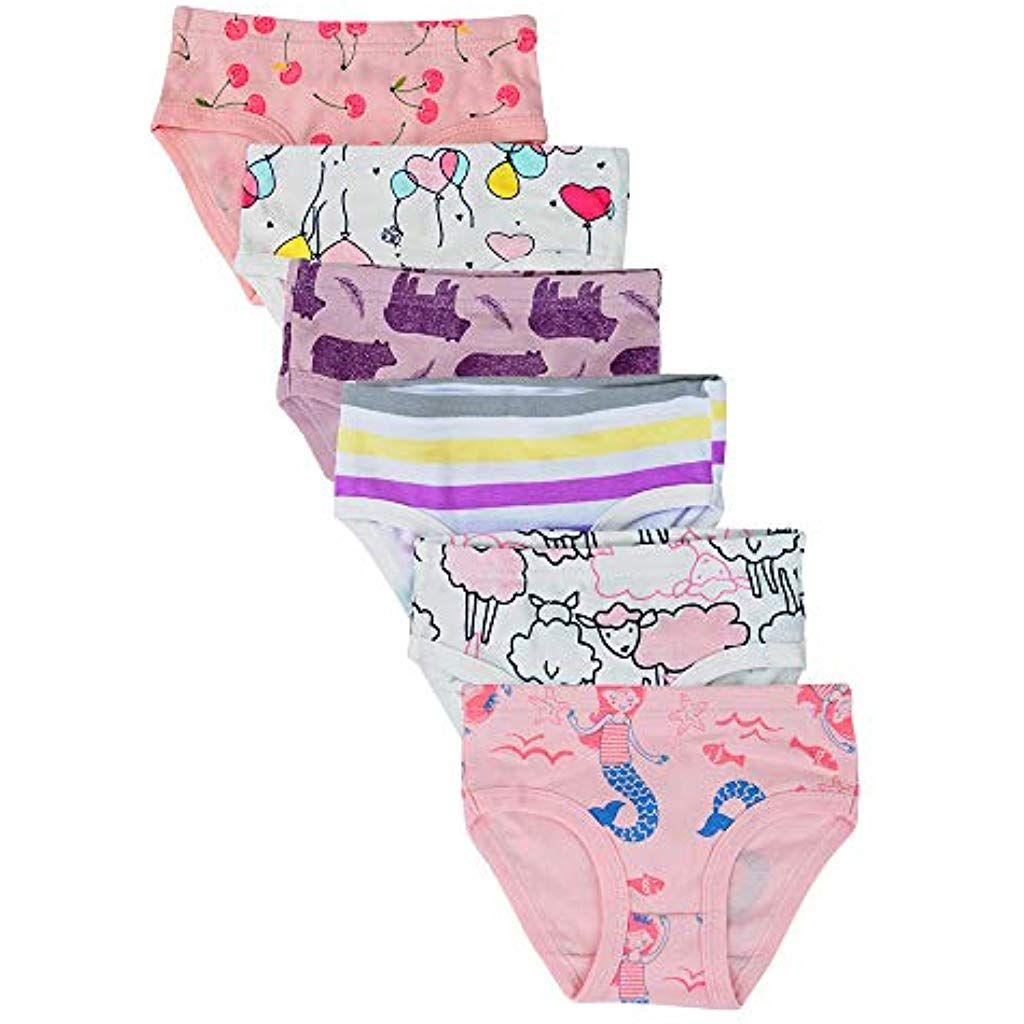 Kidear Mutande Corte da Bambine Piccole in Cotone Morbido Serie per Bambini Confezione da 8