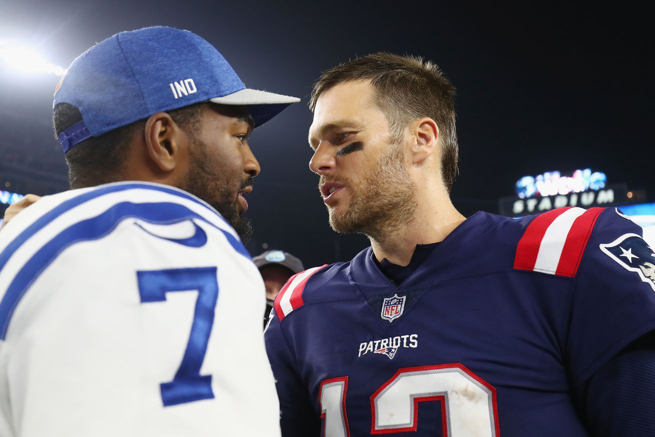 Patriots Quarterback Tom Bradys Representation Has Reportedly Met With The Colts This Week Nfl News Nf In 2020 Patriots Quarterbacks Quarterback Nfl Scouting Combine