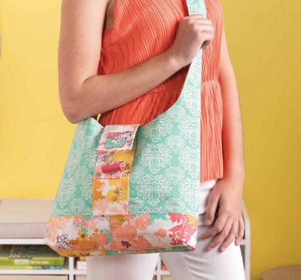 Hands-Free Sling Purse with Clay Toggle Closure - PDF Sewing Pattern ...