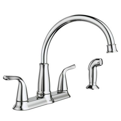Brecklyn Chrome Two Handle High Arc Kitchen Faucet Kitchen Sink