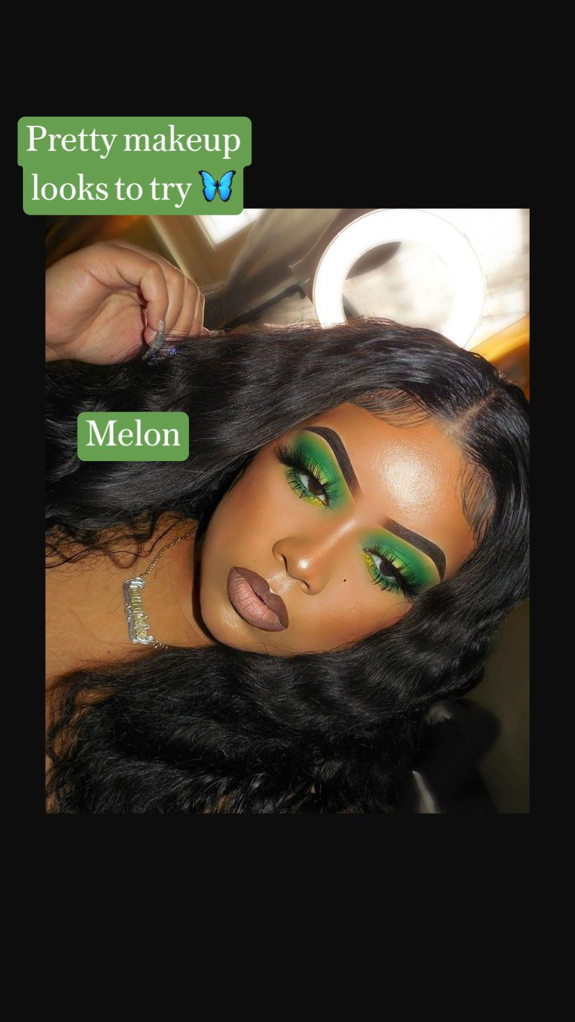 Pretty makeup looks to try 🦋     Melon